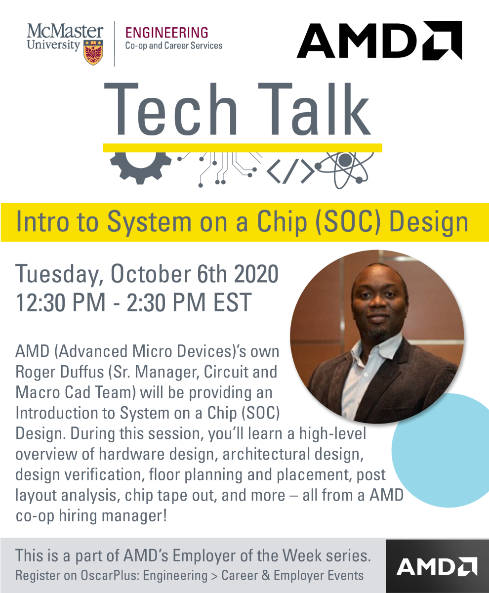 Virtual Amd Tech Talk Intro To System On A Chip Soc Design Faculty Of Engineering